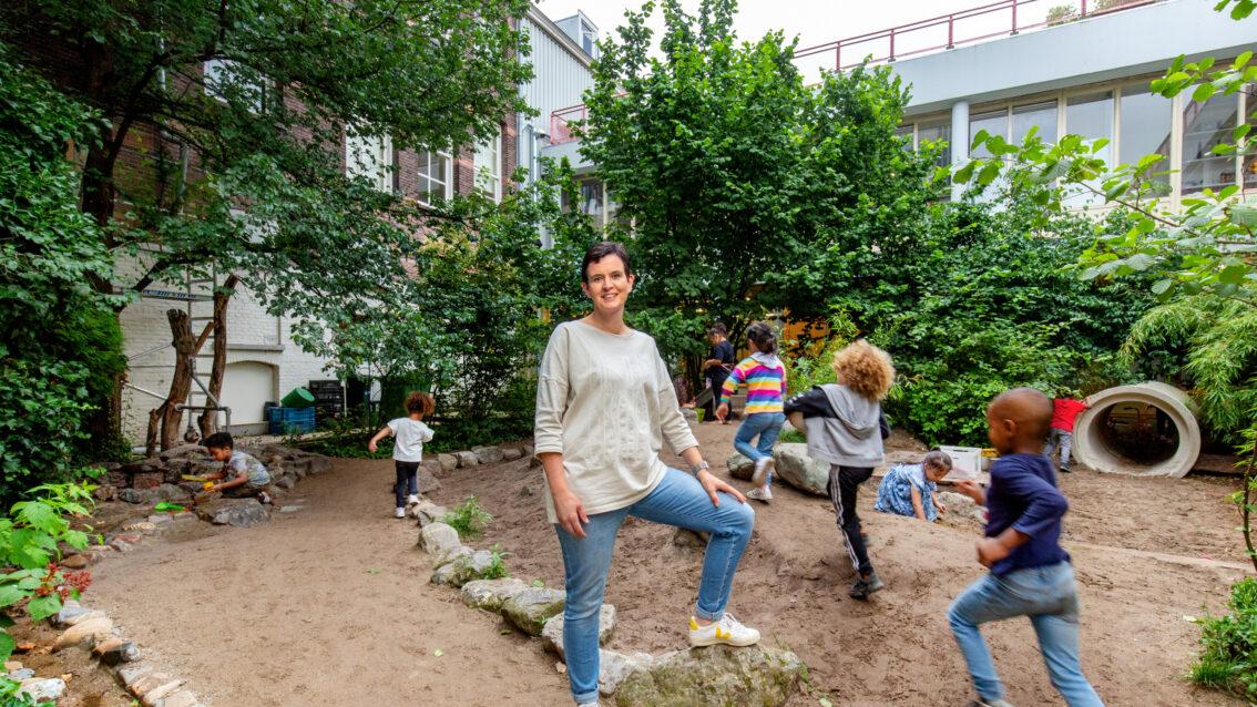 Groenblauw schoolplein voor Augustinusschool